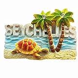 3D Praslin Seychellen Souvenir Kühlschrankmagnet, Home & Kitchen Dekoration Magnet Aufkleber touristische Souvenir Geschenk
