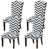 LANSHENG Fundas elásticas para sillas para sillas de Comedor, 2/4/6 Piezas Fundas Protectoras para sillas, Fundas elásticas Protectoras para Asientos (Multicolor-1,4 pcs)