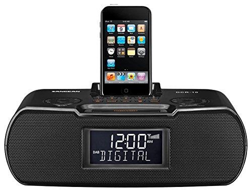 Sangean DCR-10 Tischradio - Radiowecker mit DAB + und FM - Musik-Player mit Equalizer - Aufnahme Funtion - schwarz