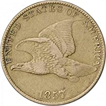 1857 Flying Eagle Cent Choice VF Uncertified