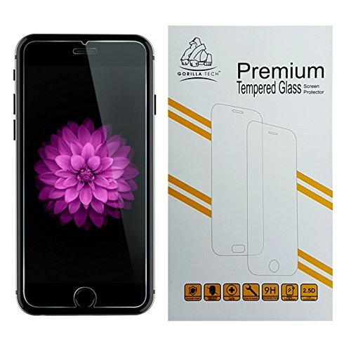 Gorilla Tech iPhone 6 Â Premium Tempered Glass Screen Protector Invisible Shield HD Cover 9H Hardness Crystal Clear HD Quality Shatter & Scratch Resistant for Apple iPhone 6 4.7', [Importado de UK]