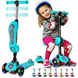 S SKIDEE Y100 Kick Scooter for Kids, Turquoise