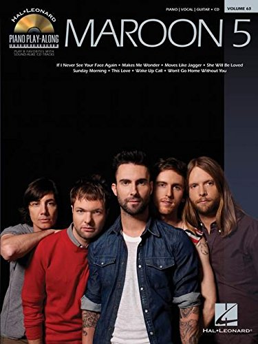 Piano Play-Along Vol.063 Maroon 5 + Cd