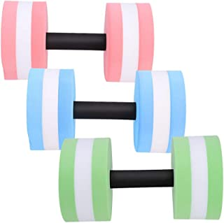 Water Dumbbell - 1 Pair Aquatic Exercise Barbell for Water Aerobics Bodybuilding Training Fitness (Color : Green)