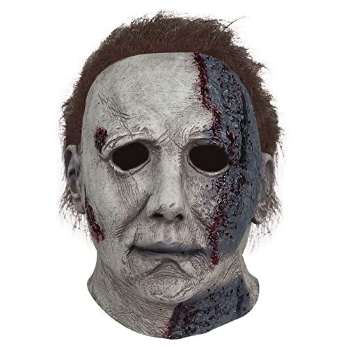 Máscara de Halloween Michael Myers Realista Casco de terror Sombreros Látex Fiesta...