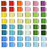 Ímãs de geladeira de 24 cores lindos ímãs de geladeira para quadro branco, armário | Ímãs coloridos de vidro ímãs decorativos para escritório, cozinha, 24 X 2