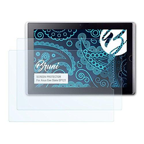 Bruni Schutzfolie kompatibel mit Asus Eee Slate EP121 Folie, glasklare Displayschutzfolie (2X)