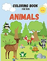 Coloring Book for Kids Animals: age 3-6