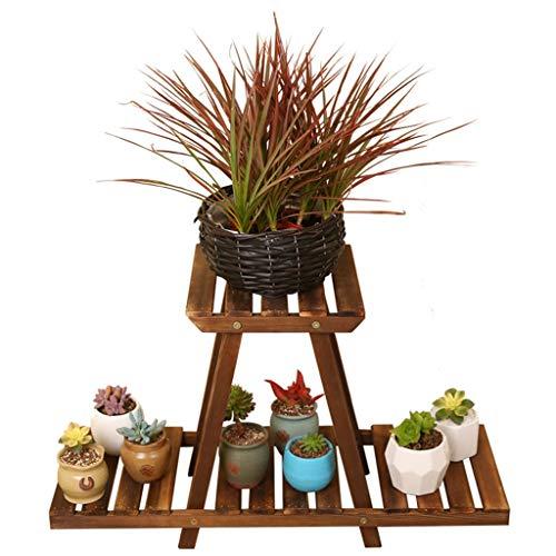 Support à fleurs Support à plantes Support à fleurs assemblé au sol Support à fleurs multifonctionnel (Color : Wood color, Size : 24 * 42 * 69cm)