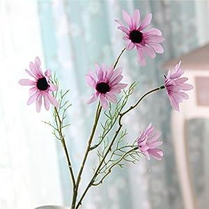 Silk Flower Arrangements Wenje Artificial Silk Fake Cosmos Flowers, Daisy Bouquet Arrangements Bonsai Wedding Floral Decor Bouquet