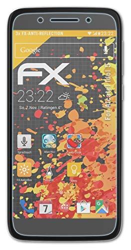 atFolix Panzerfolie kompatibel mit Alcatel Idol 5 Schutzfolie, entspiegelnde & stoßdämpfende FX Folie (3X)