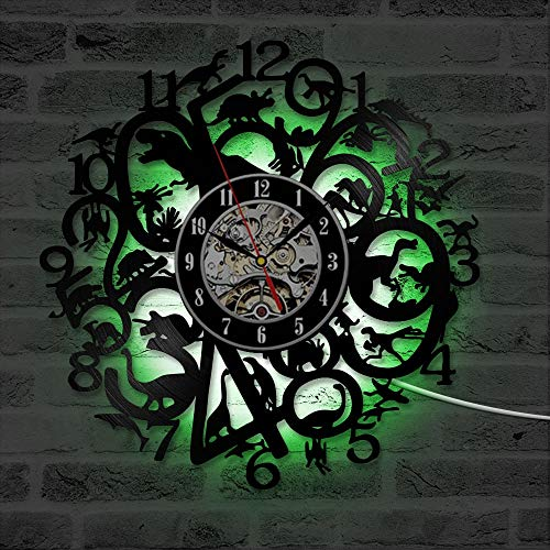 Wandkunst dekorative kreative personalisierteCD Schallplatte Uhr hohle runde antike Stil LED-Wanduhr