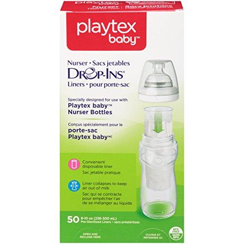 Playtex Nurser System Drop Ins Bottle Liners, Pre-Formed, Soft, 50 ct, 8 oz