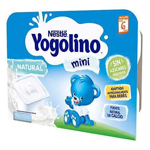 Nestlé Yogolino Mini Natural Sin Azúcar Añadido, A Partir De Los 6 Meses - Pack de 8 tarrinas 6x60g
