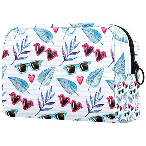 Bolsa de cepillos de Maquillaje Personalizada Bolsas de Aseo portátiles para Mujer Bolso Organizador de Viaje cosmético Gafas de Sol y Hojas