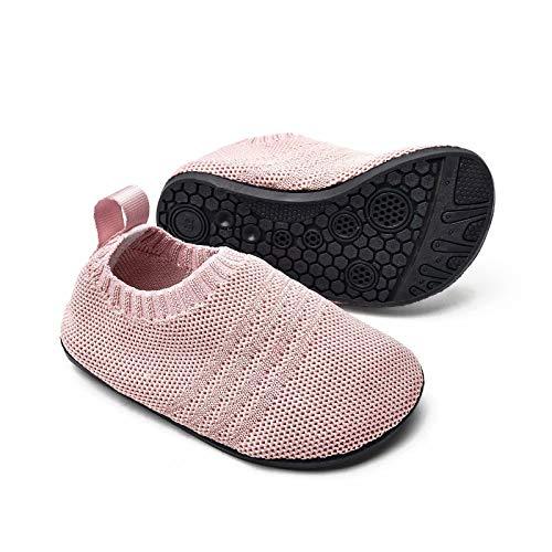 Sosenfer Zapatillas de estar por casa para niños y niñas, suela antideslizante, para bebés, unisex, color, talla 17 EU
