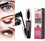 4D Silk Fiber Eyelash Mascara,4D Fibra di Seta Mascara Estensione Impermeabile Trucco Nero Freddo Kit Occhio Ciglia