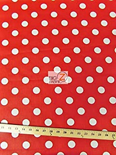 red fabric with white spots
