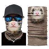 LYPYY 3D Tiere Maske Radfahren Fahrrad Motorrad Kopftuch Nackenwärmer Gesichtsmaske Ski Sturmhaube Stirnband Untere Gesichtshälfte Maske, CD