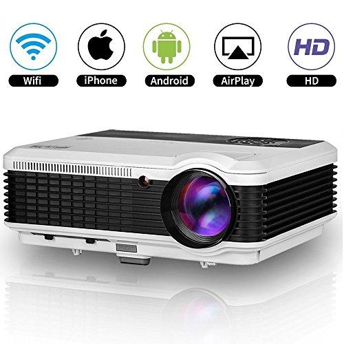 EUG HD 1080p LED Proyector WiFi WXGA 1280x800 Resolucion Multimedia Cine en...