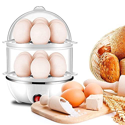 Zuvexa Multi-Function Electric 2 Layer Egg Boiler Cooker & Steamer, Egg Boiler Electric Automatic Off, Double Layer Egg Boiler Poacher(Multicolor)