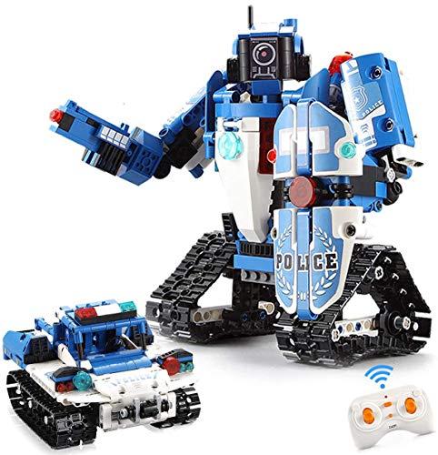 EL 2 in1 Remote Control Building Block Robot Kit for Kids STEM Toys Remote Control Police Robot Kit...