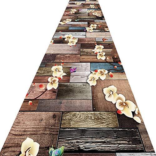 KKCF Läufer Teppiche Flur 3D Muster rutschfest Verschleißfest Kann Geschnitten Werden Eingang Teppich Chemische Faser ,Mehrere Größen (Farbe : A, größe : 0.8x2m)