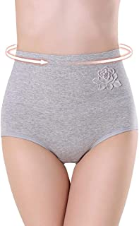 Middle Waist Lingerie Underwear Panties with Flower
