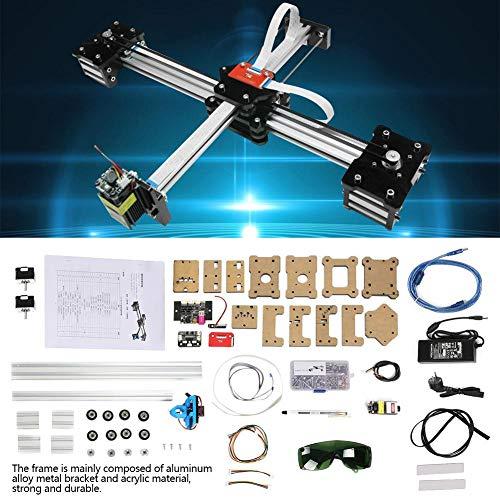 Macchina dell'incisore di CNC 0.5W, robot della macchina di disegno della penna del plotter di CNC XY di DIY di 2 assi, area di lavoro 320 * 266mm(Spina europea)