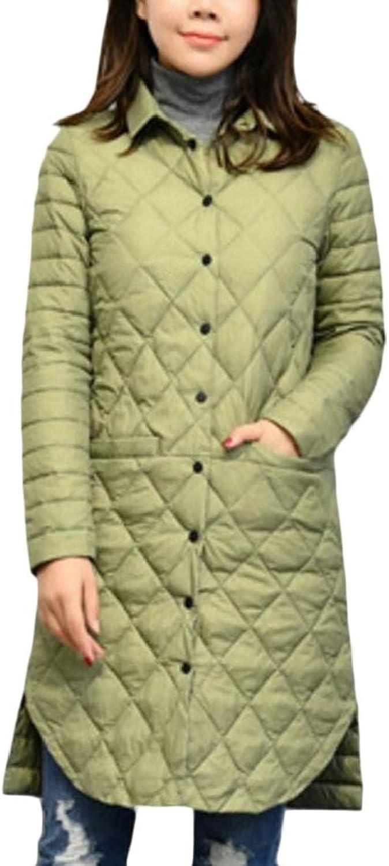 XQS Womens Slim Fit Lightweight MidLength Down Coat Jacket Winter Outerwear