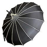 VIVI SKY Pagoda Peak Old-fashionable Ingenuity Umbrella Parasol (black)