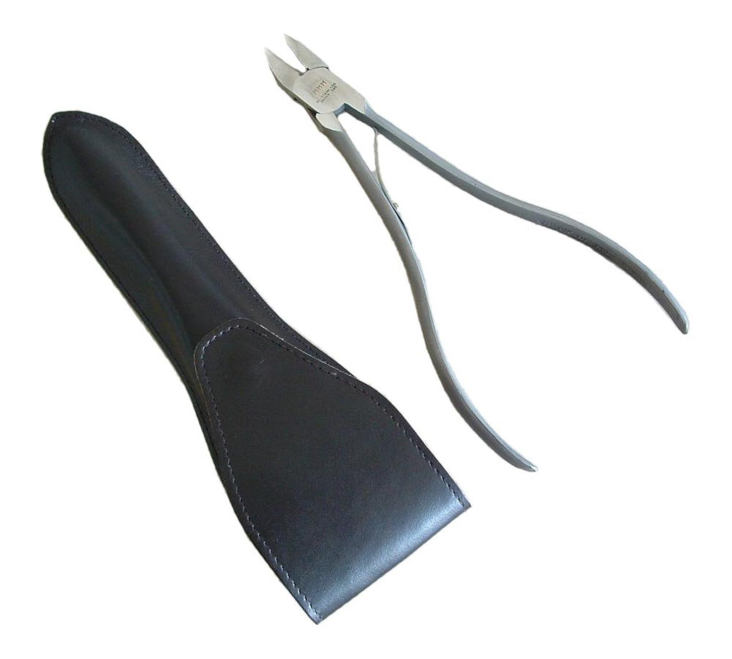 深く平和包帯タナカマイスター ロングニッパー型爪切り(レザーケース入り)