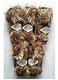 5Packs of 100g Alize with Fringe Golden Brown # 1367, 500g Plush Fringed Wool Knitting Yarn