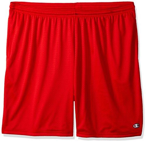 Champion Men's Long Mesh Short with Pockets,Crimson,Medium