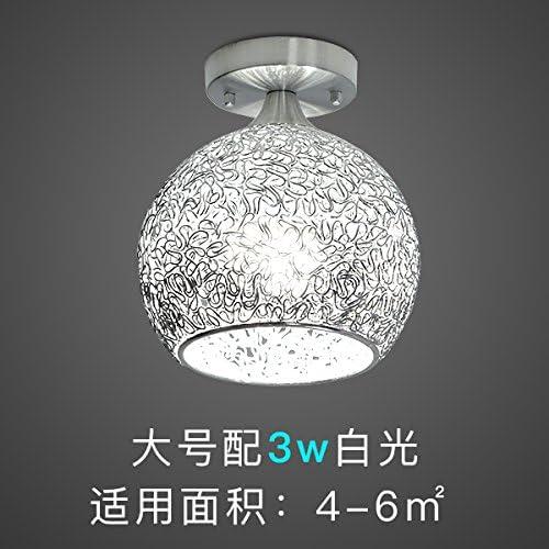 Tête simple LED lampe de plafond, entrée en aluminium couloir couloir couloir créatif, lampe, lampe de bureau positive, simple vestiaire,éclairage B4 grand, 3W lumière blanche