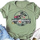 N/G T-shirt à manches courtes Motif Motherhood is A Walk in The Park - Vert - Medium