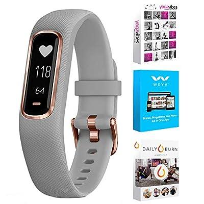 Garmin Vivosmart 4 Activity & Fitness Tracker Azure Gray S/M + Fitness Suite