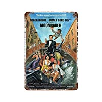 ジェームズボンド007フィルムシリーズセクシービューティーストッキング(2)さびた錫のサインヴィンテージアルミニウムプラークアートポスター装飾面白い鉄の絵の個性安全標識警告アニメゲームフィルムバースクールカフェ