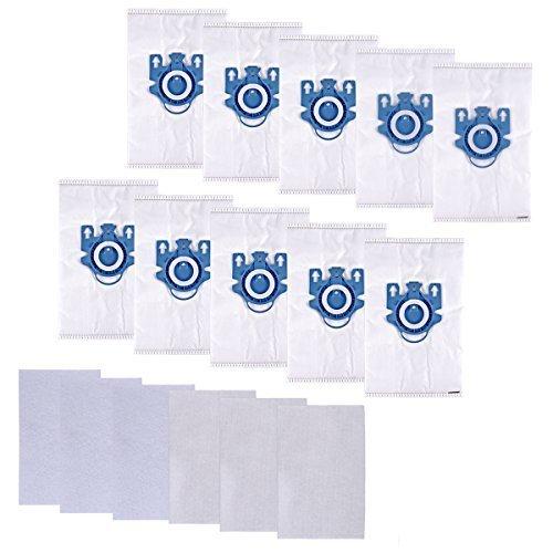KEEPOW Sac Aspirateur HyClean 3D Efficiency GN de pour Miele Classic C1, Complete C2, C3 S2000, S5000, et S8000 Series (10 Sacs Papier + 6 Microfiltre Accessimo), Accessoires pour Aspirateurs 9917730