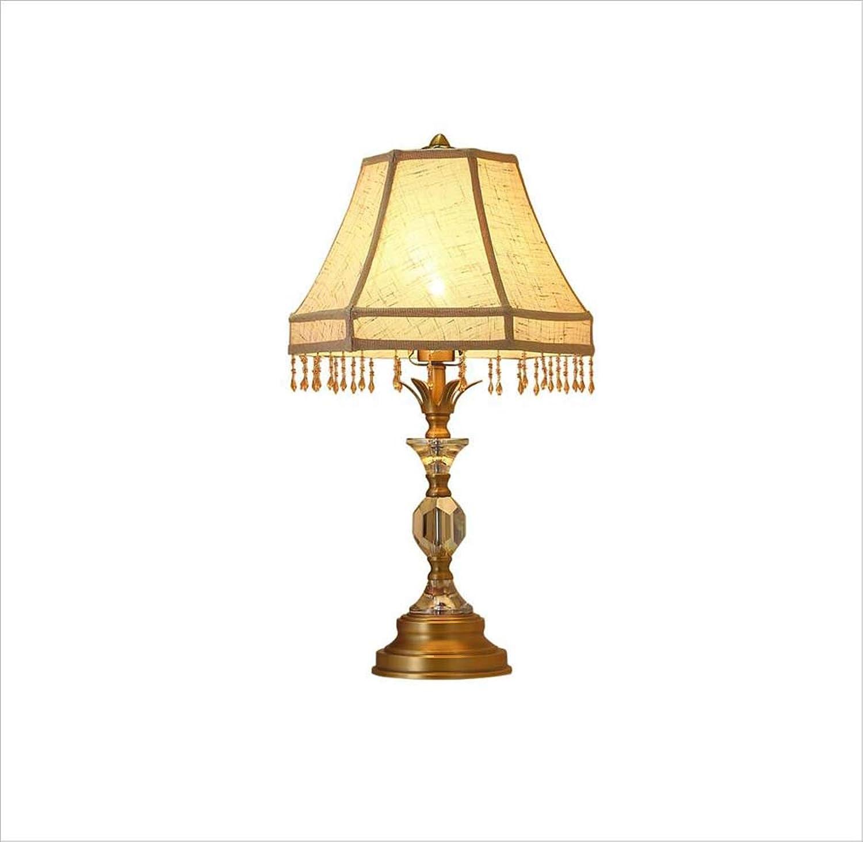 XRFHZT Vintage handgefertigte Perlenschlafzimmerlampe Warmlicht europäische Tischlampe B07MR1GMKM | Hohe Qualität Und Geringen Overhead