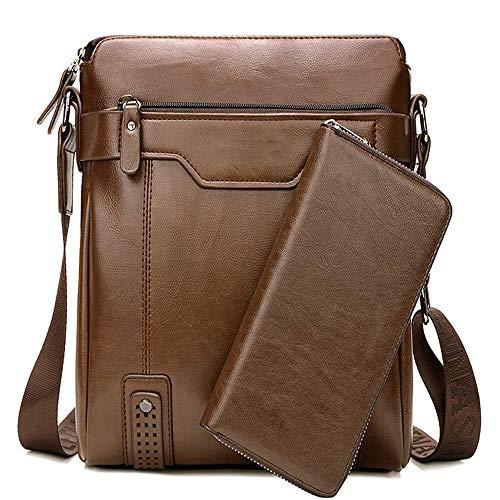 Herren Schultertasche Tasche Aus Leder,Für 9.7 Zoll Ipad Moderne Leder Schultertasche Für Männer Aktentasche Laptoptasche Bürotasche Businesstasche,D