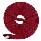 DI FICCHIANO Cordones redondos para calzado de negocios y de cuero, cordones versátiles, 3 mm de diámetro, longitud 60 - 130 cm, 25 colores, de poliéster, Unisex, cereza, 110 cm