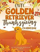 Cute Golden Retriever Thanksgiving Coloring Book
