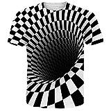 NEWISTAR Unisex 3D Animal Impreso Camisetas de Manga Corta de Verano Casual