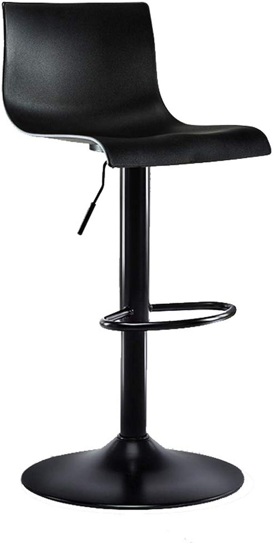 Barture Bar Chair High Stool Home Bar Chair redating Lift Bar Chair High Stool Backrest Bar Chair Coffee Shop Kitchen Bar Chair Black