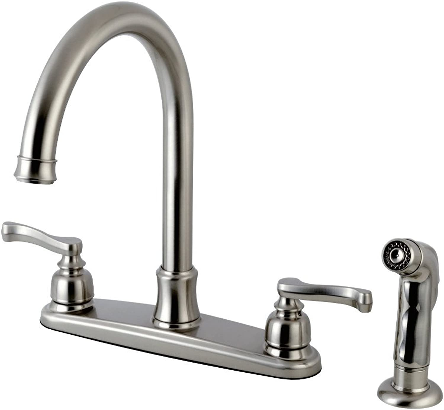 Kingston Brass FB7798FLSP Royale 8-inch Centerset Kitchen Faucet, Satin Nickel