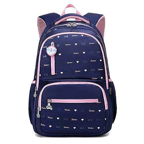 Lightweight School Backpacks for Teen Girls Casual 15.6' Notebook Travel Daypacks (Retro Blue) GWBI-blue1
