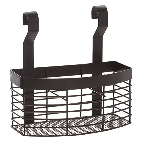 Premier Housewares Sorello - Cesta colgante de hierro, color negro, 12 x 20 x 21 cm