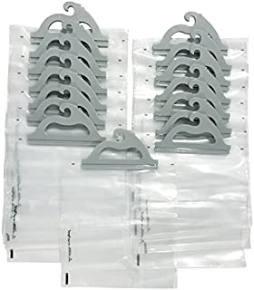 Hanging Storage Bags, 15-pack of 10 x 12.5-inch Clear Plastic Bags for Classroom, Library, and Pharmacy Use