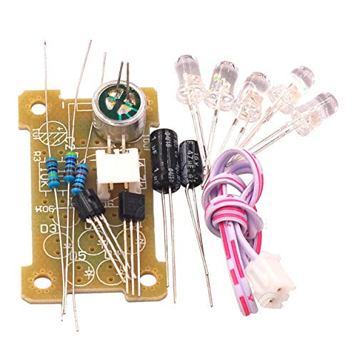 Voice Control 5Mm Green Led Melody Light Electronic Production Kit Diy Fun Production Parts Module Kit - Brown